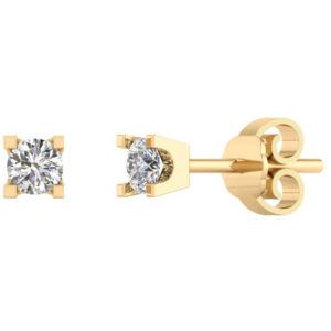 14 Karat Guld Ørestikker fra Smykkekæden med Diamanter 0,30 Carat TW/SI