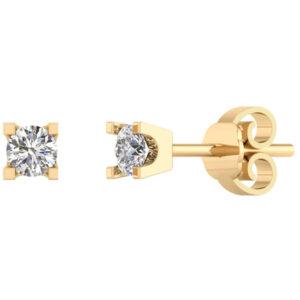 14 Karat Guld Ørestikker fra Smykkekæden med Diamanter 0,40 Carat TW/SI