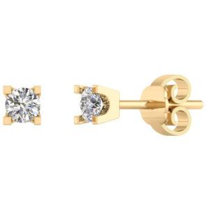 14 Karat Guld Ørestikker fra Smykkekæden med Diamanter 0,50 Carat TW/SI