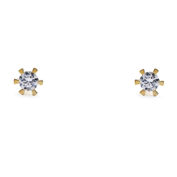 14 Karat Guld Ørestikker fra Smykkekæden med Diamanter DMB0106RG585