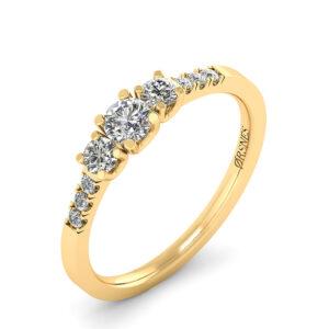 14 Karat Guld Ring fra Henrik Ørsnes Design med Brillanter 0,50 Carat W/SI