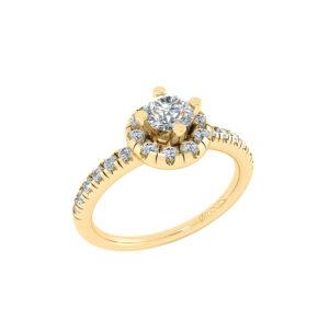 14 Karat Guld Ring fra Henrik Ørsnes Design med Brillanter 0,92 Carat W/SI
