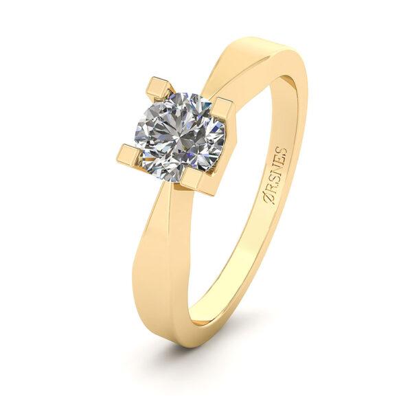 14 Karat Guld Ring fra Henrik Ørsnes Design med Diamant 0,50 Carat W/SI