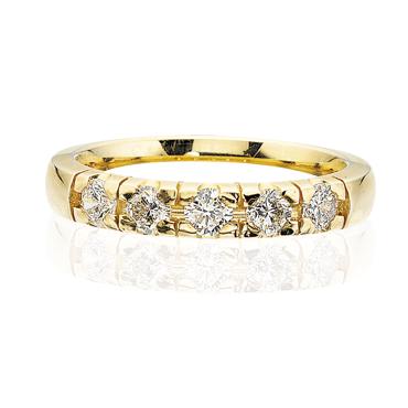 14 Karat Guld Ring fra Scrouples med Diamanter 0,35 Carat W/SI