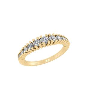 14 Karat Guld Ring fra Smykkekæden med Brillanter 0,32 Carat TW/SI