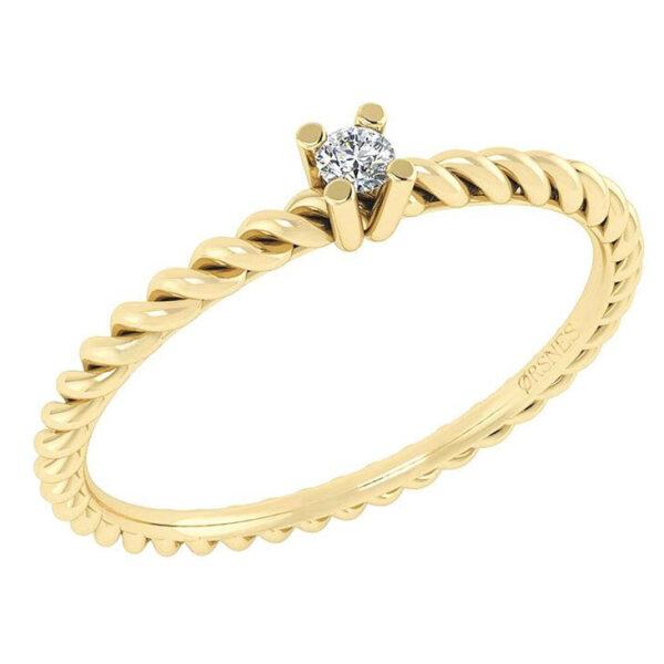 14 Karat Guld Ring fra Smykkekæden med Diamant DMN0345YG