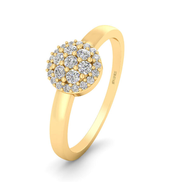 14 Karat Guld Ring fra Smykkekæden med Diamanter 0,125 Carat W/SI