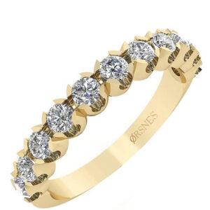 14 Karat Guld Ring fra Smykkekæden med Diamanter 0,66 Carat W/SI