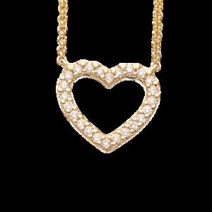 14 Karat Guld Vedhæng fra Scrouples med Diamanter 0,15 Carat W/SI
