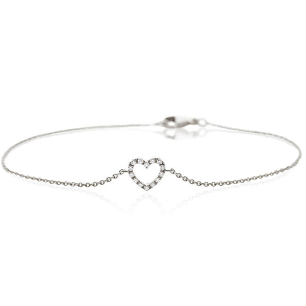14 Karat Hvidguld Armbånd fra Smykkekæden med Diamant 90-00152-1855-017