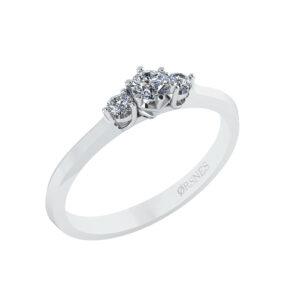14 Karat Hvidguld Ring fra Henrik Ørsnes Design med Brillanter 0,146 Carat W/SI