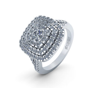 14 Karat Hvidguld Ring fra Henrik Ørsnes Design med Brillanter 1,022 Carat TW/SI