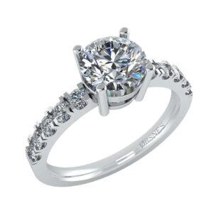 14 Karat Hvidguld Ring fra Henrik Ørsnes Design med Brillanter 1,83 Carat W/SI