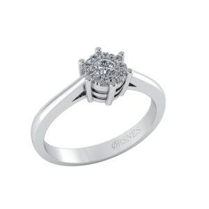 14 Karat Hvidguld Ring fra Henrik Ørsnes Design med Diamant 0,18 Carat W/SI