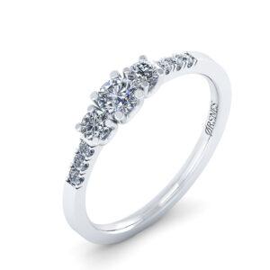 14 Karat Hvidguld Ring fra Henrik Ørsnes Design med Diamanter 0,50 Carat W/SI