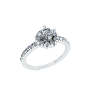 14 Karat Hvidguld Ring fra Henrik Ørsnes Design med Diamanter 0,92 Carat W/SI