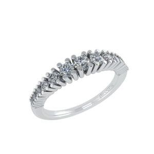 14 Karat Hvidguld Ring fra Smykkekæden med Brillanter 0,32 Carat TW/SI