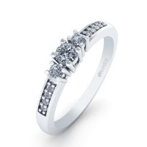 14 Karat Hvidguld Ring fra Smykkekæden med Brillanter 0,80 Carat W/SI