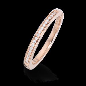 14 Karat Rosaguld Ring fra Scrouples med Brillanter 0,088 Carat