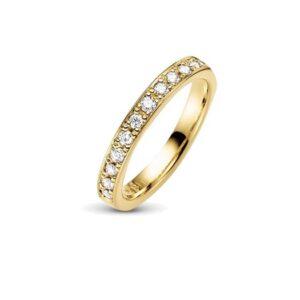 14 kt guld forlovelses ring med 12 brillianter 0,36 kt