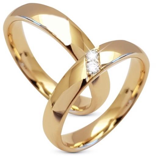14 kt guld vielses og forlovelses ringe