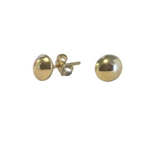 8kt. guld ørestikker med rund knap 6mm