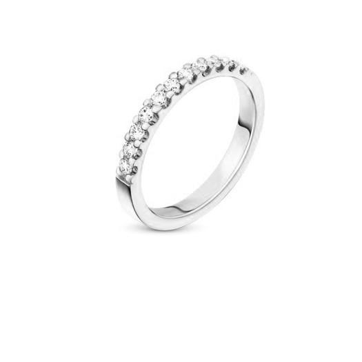 9 kt hvidguld forlovelses ring med 11 klimavenlige diamanter