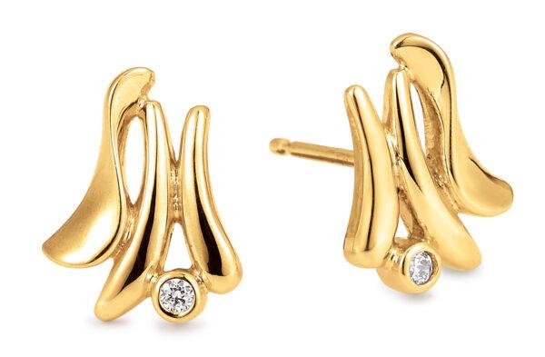 Aagaard 14 kt ørestikker med diamanter - 14943989-34