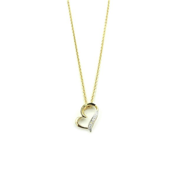 Aagaard - Hjerte vedhæng i 14 kt. guld incl. kæde**