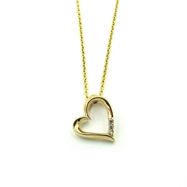 Aagaard - Hjerte vedhæng i 8 kt. guld m. kæde**