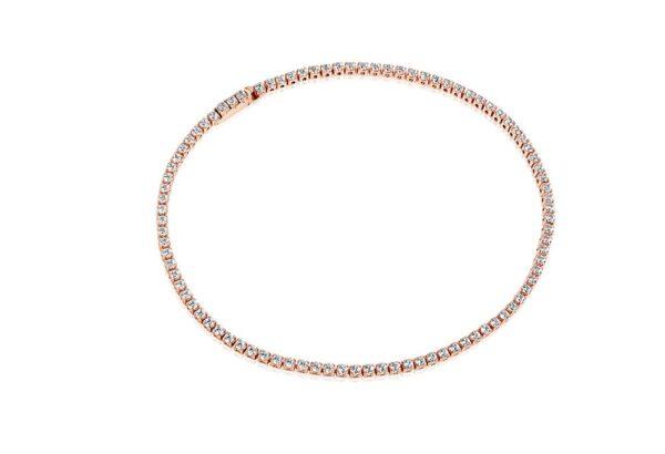Armbånd Ellera - 18 kt. rosaforgyldt med hvide zirkoner