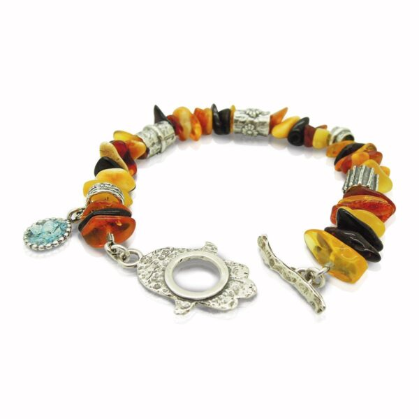 Armbånd med rav, Hamsa hånd og romersk glas
