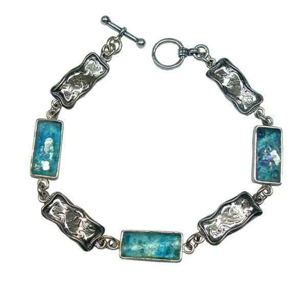 Armbånd til kvinder - med antikt glas og rustikke sølvrammer