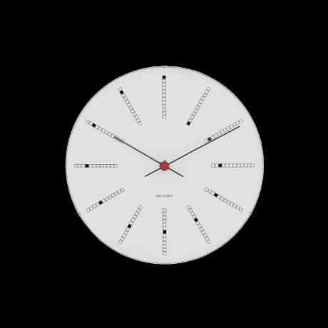Arne Jacobsen vægur - Bankers - Vælg mellem 4 størrelser