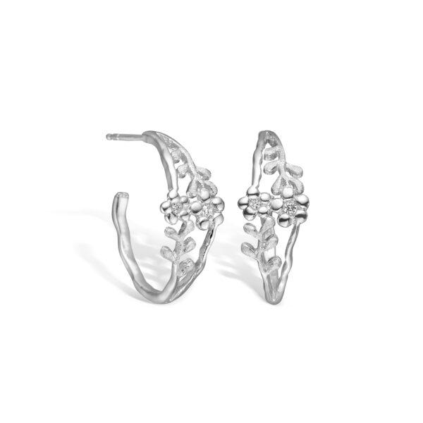 BLOSSOM ørering i sølv med blomster