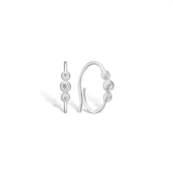 BLOSSOM øreringe i sølv med cz
