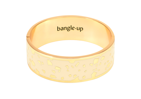 Bangle Up Lucy armbånd - Sand White 03