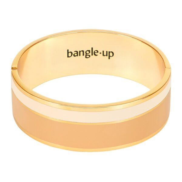 Bangle Up Vaporetto armbånd - Camel/Sand white