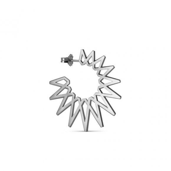 Big Sun Ørering 1pc | Sølv Fra Jane Kønig