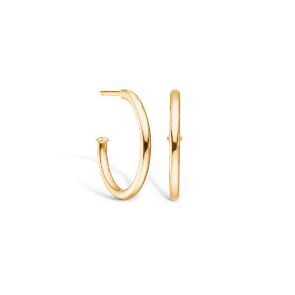 Blossom ørering i 14 kt guld, blank 20 mm