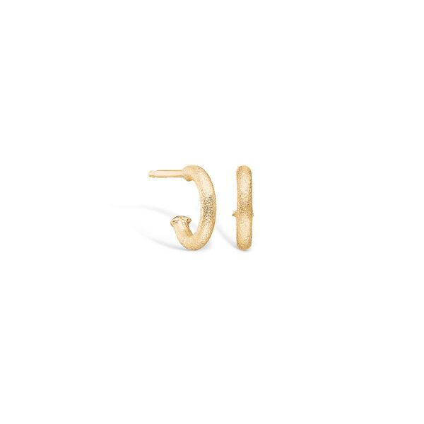 Blossom ørering i 14 kt guld, mat 10 mm