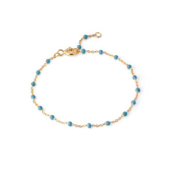 Bracelet, lola Bracelets, Blue - 15,5 + 2 cm