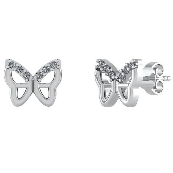 Butterfly Sterling Sølv Ørestikker fra Smykkekæden