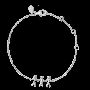 ByBiehl Family together 3 armbånd i sølv