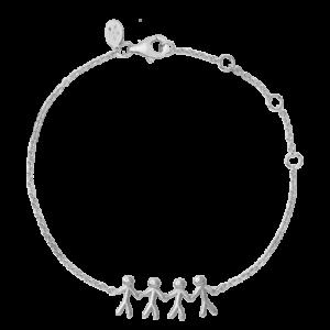 ByBiehl Family together 4 armbånd i sølv