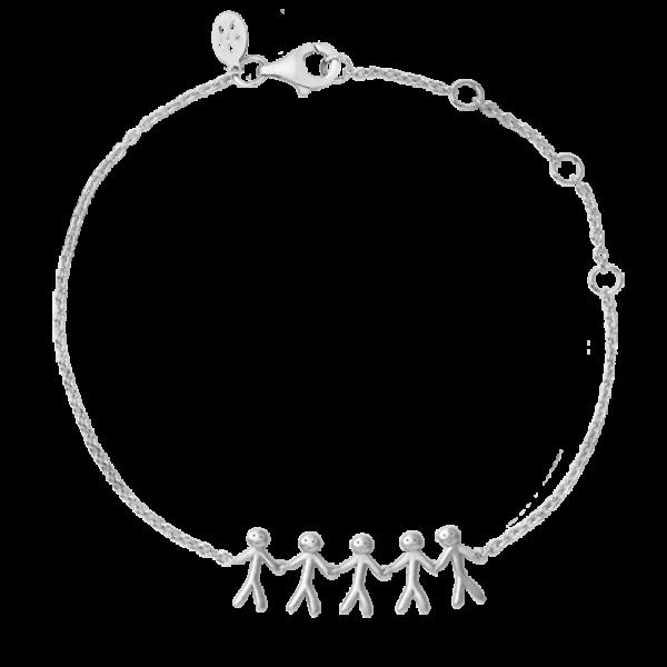 ByBiehl Family together 5 armbånd i sølv
