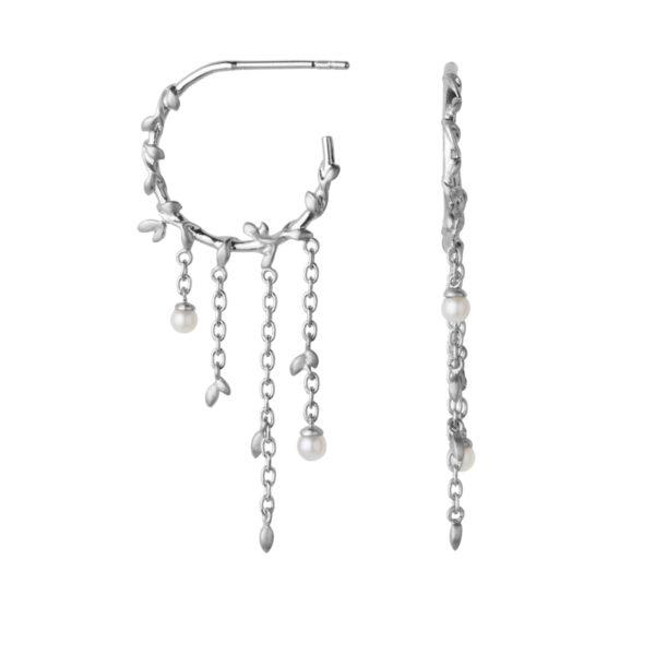 ByBiehl Jungle Ivy Hoop Pearl i sølv med perler
