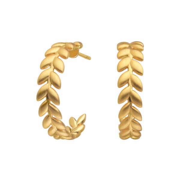 ByBiehl Season øreringe i guldbelagt