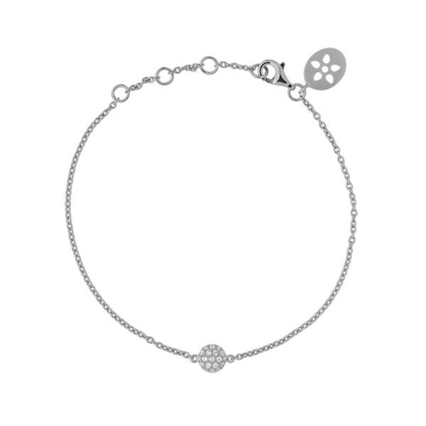 ByBiehl Venus Armbånd, sølv med hvide cz