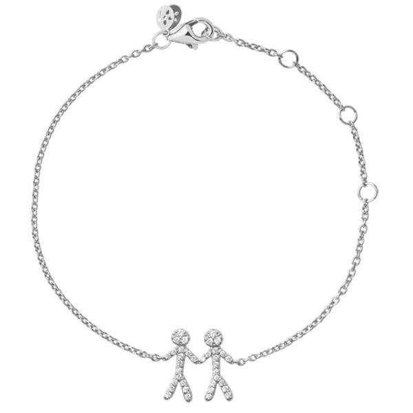 ByBiehl You and Me together 2 armbånd i sølv med cubic zirkonia